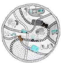 Детские игры одеяло пол Ползания коврики плед детская комната украшения/младенческой и малышей играть