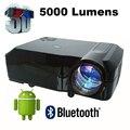 5000 lúmenes android Inteligente 4.4 de Cine En Casa 1080 P de Vídeo LED LCD fuLL HD Proyectores Proyector Beamer projektor proyector Projetor