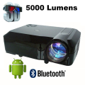 5000lumens Smart android 4.4 Home Theater 1080P Video LCD LED fuLL HD Projectors Projector projektor Proyector Projetor Beamer