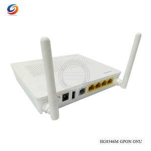 1PCS Wholesale English software Original NEW HW HG8546M Gpon WiFi Ont onu 1GE+3FE+1USB+WiFi modem with EU adapter(China)