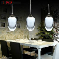 1PCS LED Small Modern Mini Contemporary Chandelier Ceiling Light Fixture Lamp Droplight