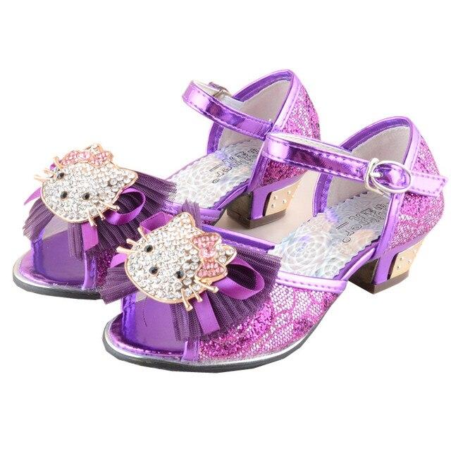 moda per bambini sandali ragazze scarpe tacchi alti del. Black Bedroom Furniture Sets. Home Design Ideas