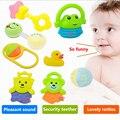 8 pçs/set bonito dos desenhos animados dente formação mordedor bebê mordedores chocalhos para o bebê infantil de bell toys massageador baby toys 0-12 meses