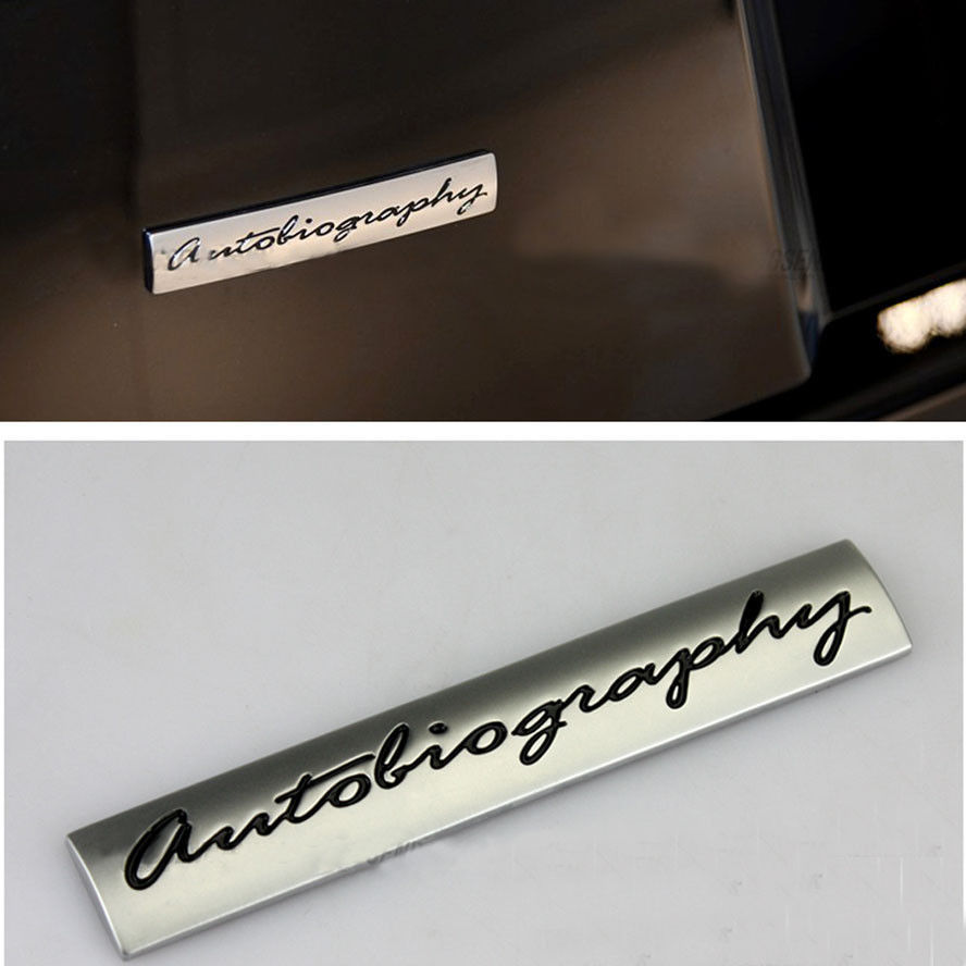 Silver Autobiography Boot Emblem Badge Decal Sticker Metal Fit For Range Rover Sport L322 Vogue ect auto chrome camaro letters for 1968 1969 camaro emblem badge sticker