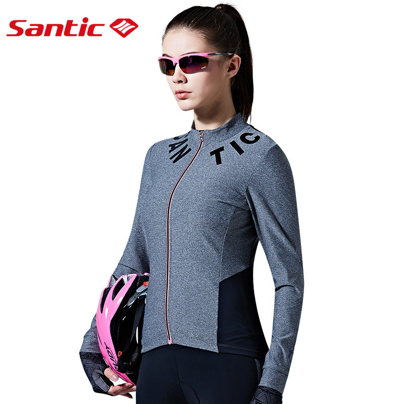 Santic Women Cycling Jerseys Long Sleeve Pro Fit SANTIC N-FEEL Urban Leisure Road Bike Riding Shirts Cycling Clothings L7C01078