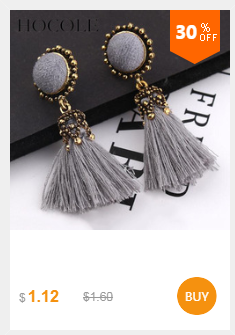 HTB1TzTvXOzxK1Rjy1zk761HrVXa6 - HOCOLE Bohemian Crystal Tassel Earrings Black White Blue Red Pink Silk Fabric Long Drop Dangle Tassel Earrings For Women Jewelry