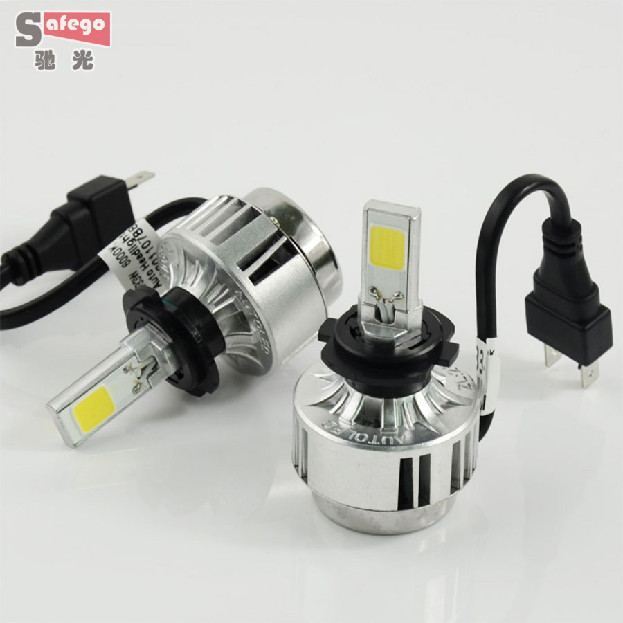H7 Led Car Headlight Car Headlamp 6000lm 66w Cob Chip Led Auto