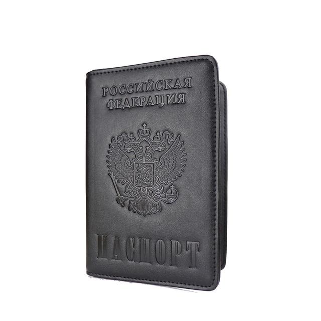 Роскошный однотонный чехол для паспорта для мужчин и женщин, Дорожный Чехол для паспорта, A609-55, Россия, для путешествий, для мужчин, t, Обложка, RFID, для паспорта, держатели