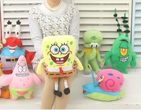 Spongebob Set Stuffed Plush Sponge Bob Patrick Crab Plankton Octopus Snail Dolls Kids Toys Best Brinquedos