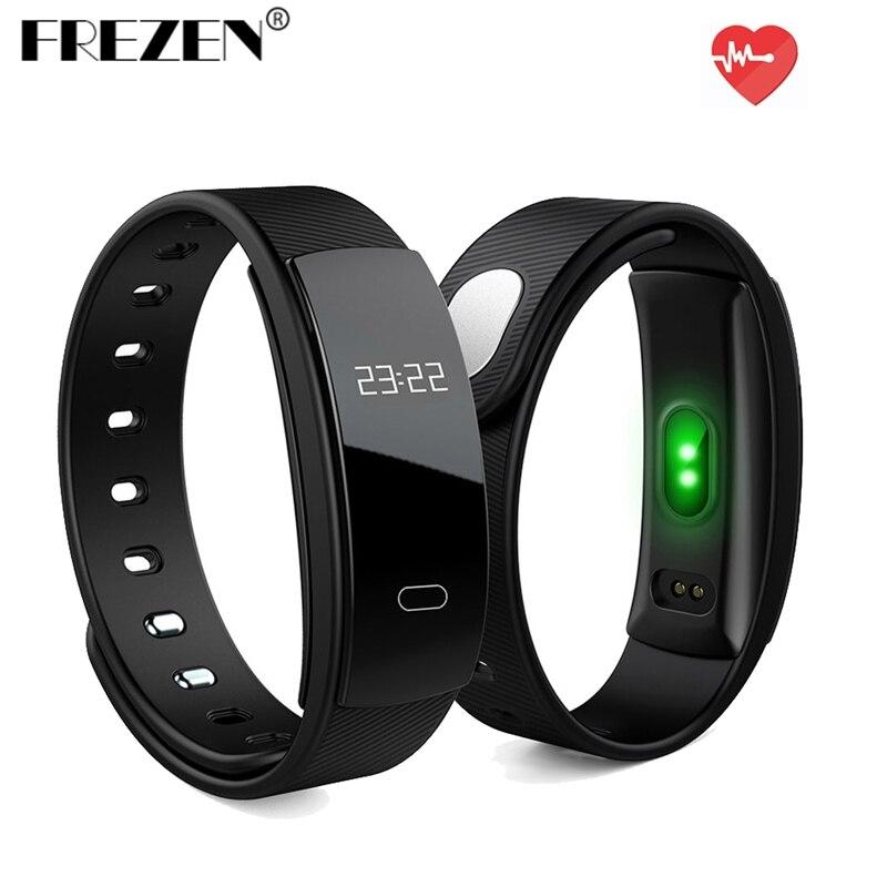 FREZEN QS80 Heart Rate Smart Band Blood Pressure Monitoring Smart Wristband Fitness Tracker Smart Bracelet for