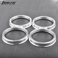 TEEZE - (1 Set) Silver Aluminum Alloy Car Accessories for Wheel Hub OD 63.3 to ID 54.1 Cebtric Hub rings 4pcs/lot free shipping