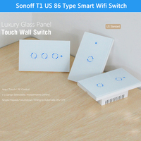 2018 NEW Sonoff T1 US WiFi RF APP Touch Control Switch 1 2 3 Gang Panel