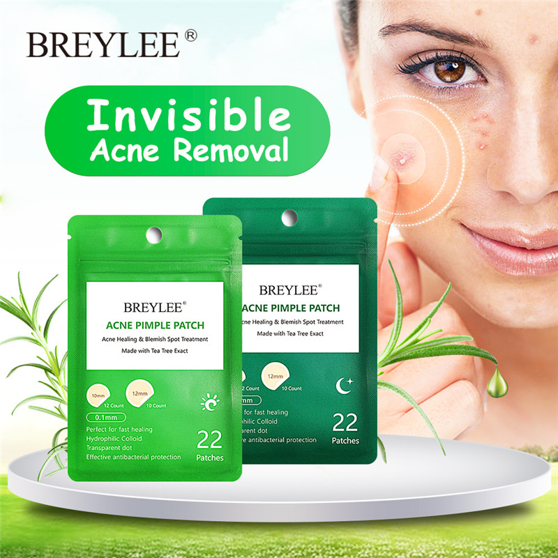 BREYLEE 44 Patches Acne Patch Acne Treatment Stickers Pimple Remover Tool Blemish Spot skin care Patches removal acne mask in Face Skin Care Tools from Beauty Health