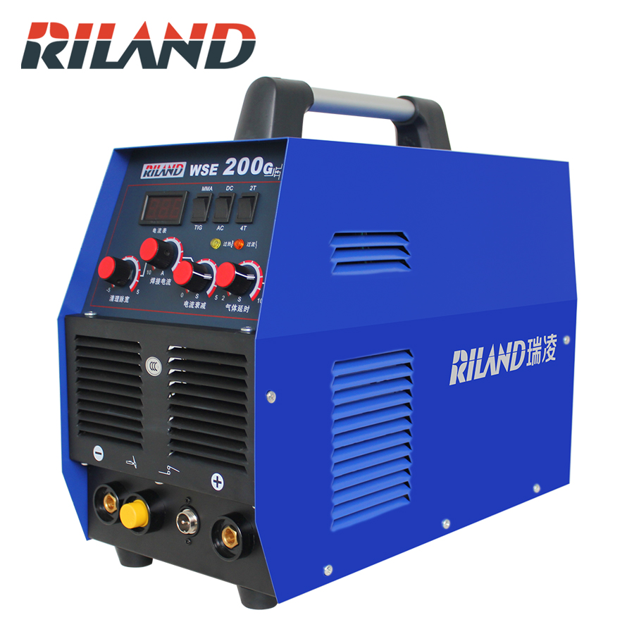 RILAND WSE200G AC/DC Square Wave Argon- ARC Welding Stainless Steel Welding Machine Aluminum TIG Welding Machine 220V