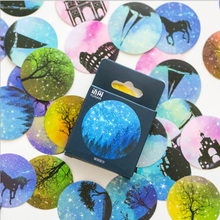 50 pcs/lot starry sky Mini Sticker Decoration DIY Diary Planner Scrapbooking Stickers kawaii label stickers Stationery