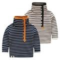 LittleSpring Velvet Thicken Children Boy T-shirt Casual Long Sleeve Winter Boys Stripe Turtleneck T-shirts Kids Street Wear Tops