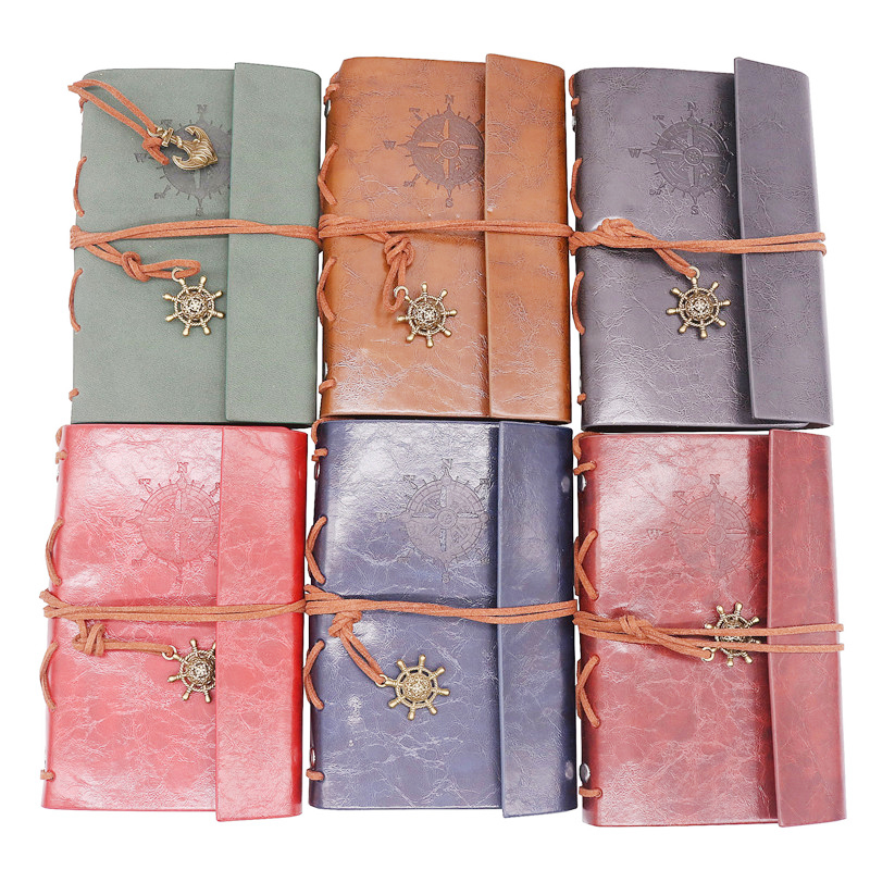 New Diary Book Notebook Vintage Pirate Note Book Replaceable Traveler Notepad Book Leather Cover Blank Notebook Journal Diary spiral notebook newest diary book vintage pirate anchors pu leather note book gift traveler journal 14 5 10 5 2 5 cm 2 color
