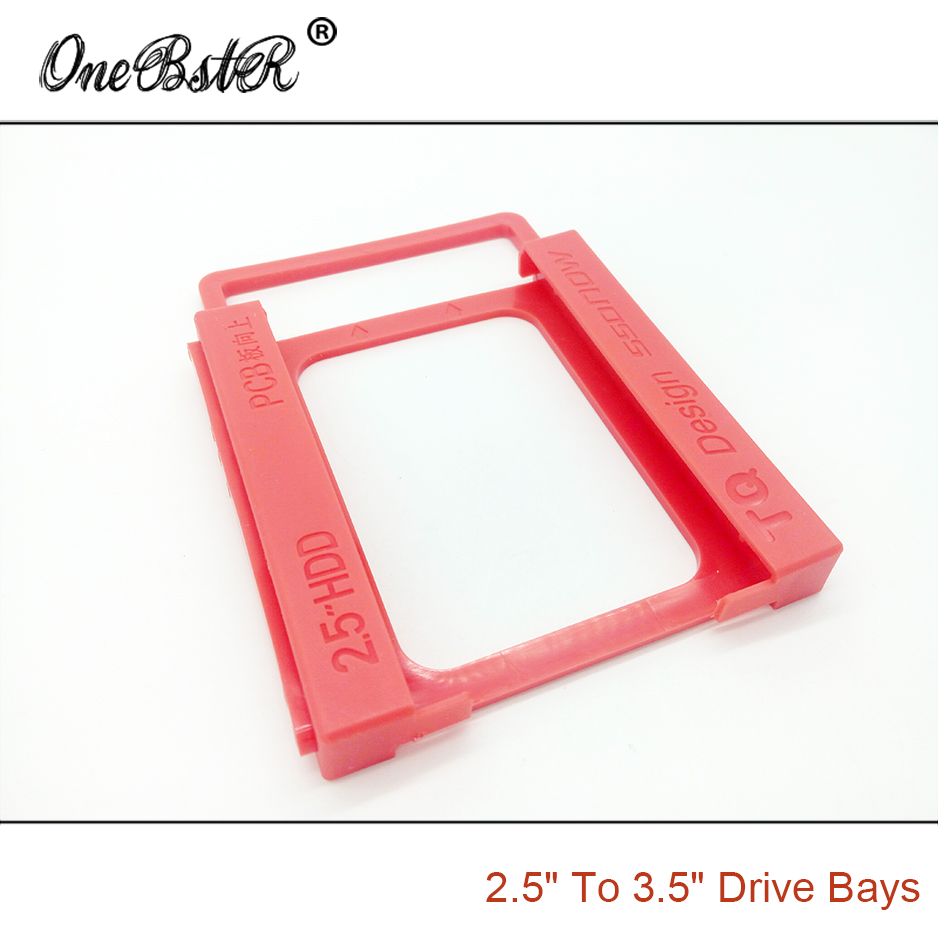 "Image 2 - 2.5"" SSD Hard Drive To 3.5"" Bay HDD Mounting Plastic Bracket Dock Tray Adapter Screw free Installation Easy free shipping-in 3D Printer Parts & Accessories from Computer & Office"