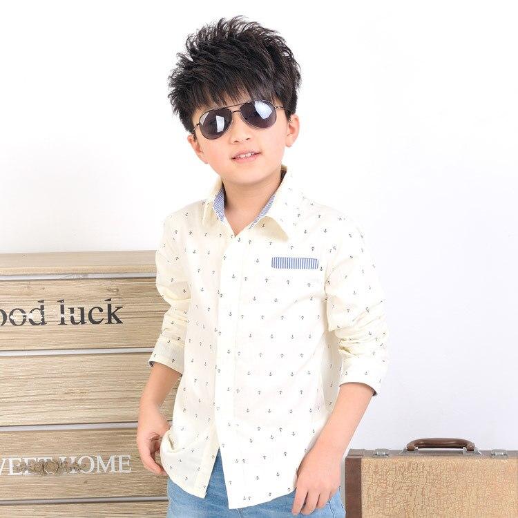0fb0b68ccb8c7 2016 nuevos niños ancla patrón camisas de vestir para niños de moda de la  marca de los niños otoño coreano estilo Casual vestido de boda camisas C017  en ...