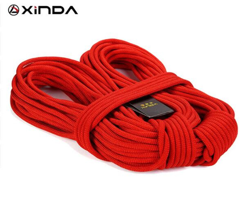 XIND 10M Professional Rock Climbing Rope Outdoor Hiking Corda 8mm Diameter 10KN High Strength Statics Rope Safety Rope in Paracord from Sports Entertainment