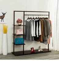 Hangers floor to ceiling bedroom hangers indoor iron coat and hat rack home simple single lever clothes rack.