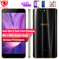 Global Version ZTE Nubia Z17 mini S Mobile Phone 6G 64G 5.2 1080P Snapdragon 653 Octa Core Dual Front Real Cameras NFC 4G phone