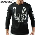 2017 Autumn Mens Long Sleeve T-shirts Fashion Men's Printed Letter Tees Autumn O-neck T-shirts (Europe / US size)