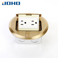Brass Material Round Type Floor Receptacle UL Listed 15A 125V Pop Up Type