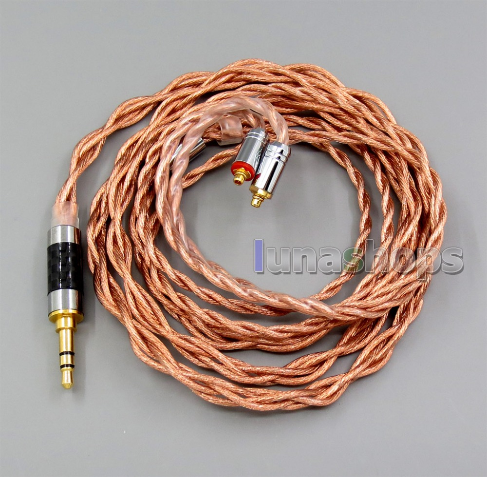 LN006039 4 core 2.5mm 3.5mm 4.4mm équilibré MMCX 7N OCC 1.5mm diamètre écouteur câble pour Shure SE535 SE846 Se215 personnalisé 5 B-in Écouteurs from Electronique    1