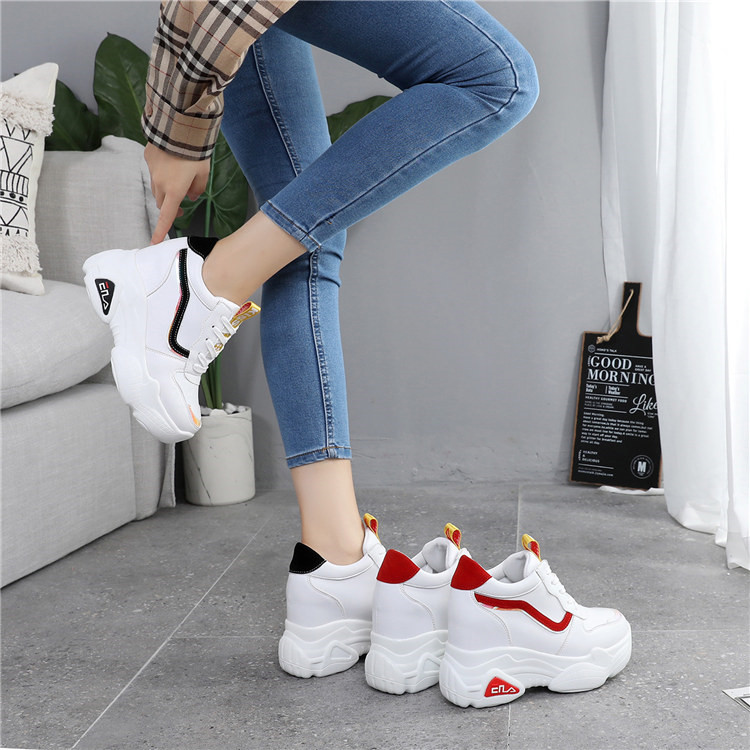 New Casual High Platform Shoes Women Breathable Height Increasing Shoes 10CM Thick Sole Trainers Sneakers Woman Deportivas Mujer