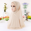 12 цветов Мусульманин Хиджаб полым из мусульманских женщин шарф головной платок тюрбан hat женская мода шарфы