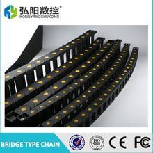 Черная усиленная пластиковая нейлоновая цепь для кабеля длиной 1 м 35x50/60/75/100 мм мостовой тип для станка с ЧПУ