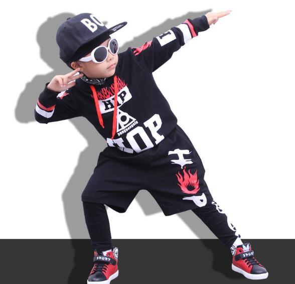 Children Hip Hop Outfit Autumn Girls Street Dance Clothes Boys Sport Suits Kids  Dance Costumes 3 Piece Sets new fashion children s clothing set brand dance wear costumes autumn kids sport suits hip hop boys tracksuit pants