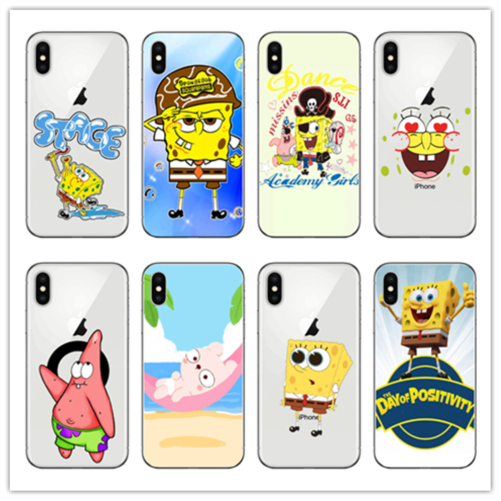 Cellphones & Telecommunications Kuliai Cartoon Spongebob Squarepants Hard Phone Case For Iphone 6 6s 7 8 Plus 5 5s Se For Iphone Xs Max Xr Shell Cases Year-End Bargain Sale