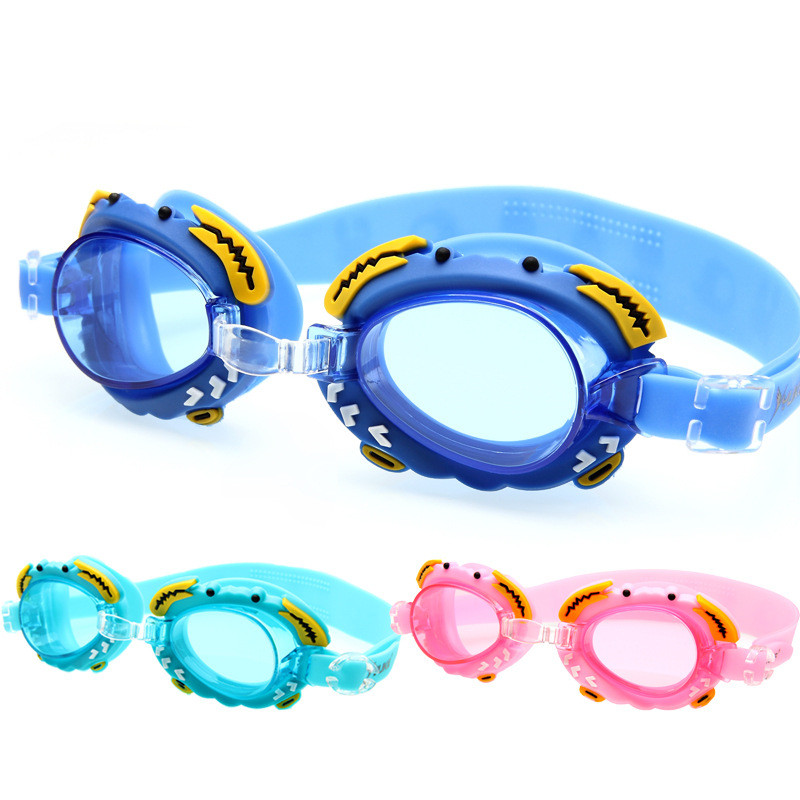 Anti-fog Swimming Goggles For Children Glasses Clear Colorful Lens Crab Pool Eyewear Lovely Cartoon Zwembril Kids Swim Pool