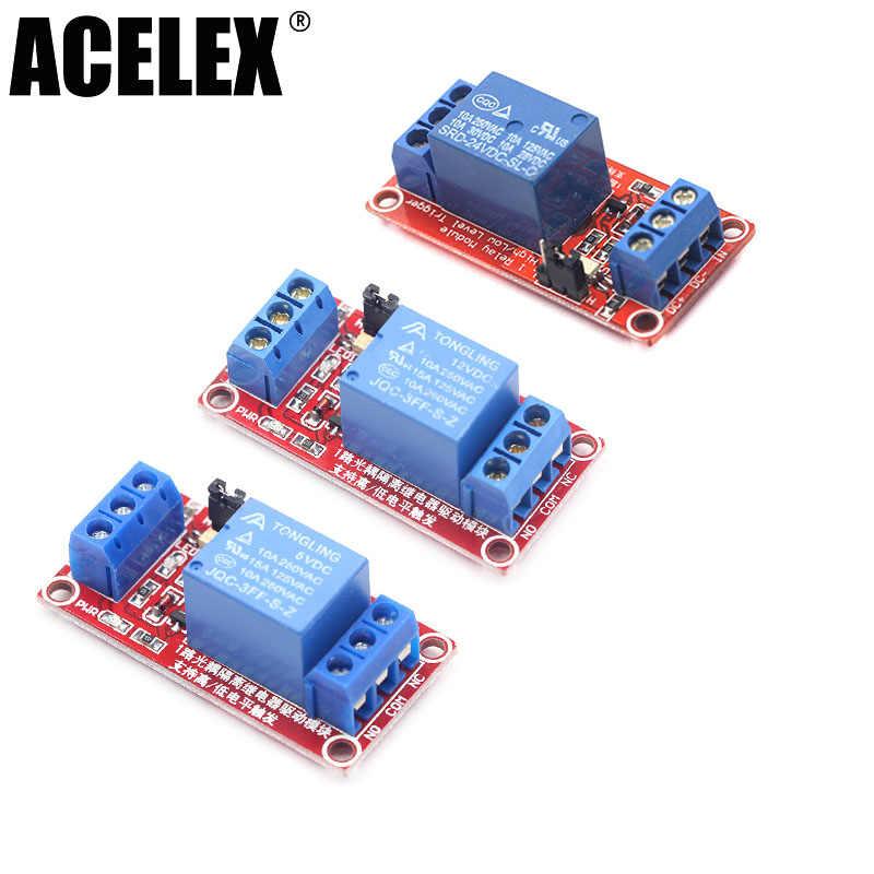 واحد 1 قناة 5 فولت 12 فولت 24 فولت وحدة التتابع مجلس درع مع Optocoupler عالية ومنخفضة المستوى الزناد وحدة امدادات الطاقة