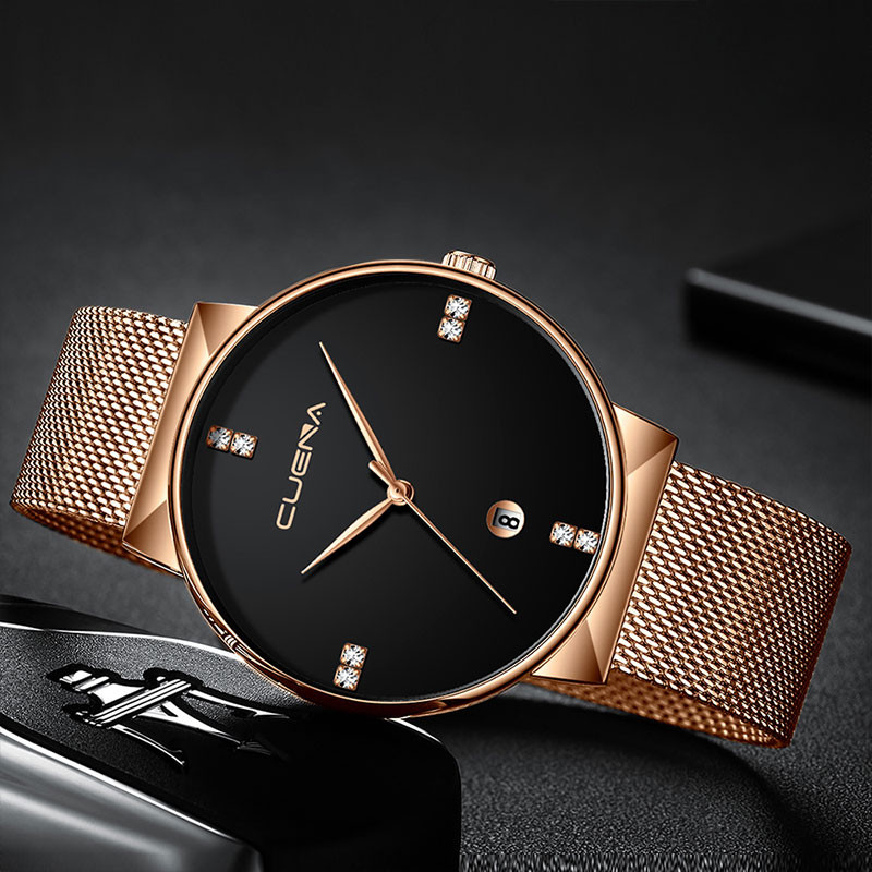 Man Watches Luxury Ultra Thin Clock Male Steel Strap Casual Quartz Watch Men's Wrist Watch reloj hombre mens watches kol saati