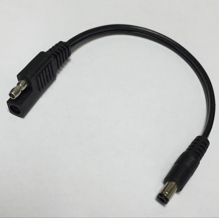 1 st 0,2 m SAE-kontakt till DC5,5 * 2,1 mm hane Jack 10A / SPT2 / 18AWG Kopparledning Snabb kontakt för bilbatteri Solpanelkabel