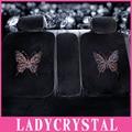 Ladycrystal Personalizado Macio do Luxuoso Colorido de Cristal Rhinestone Universal Assento de Carro Cobre Tampa de Assento Do Carro de Veludo de Alta Qualidade
