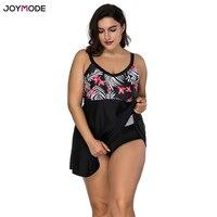 JOYMODE 2018 Plus Size Swimwear Women Skirt Takes One Piece Sexy Swimsuit Padded Bra Over Bath