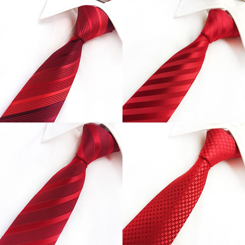Silk Plaid Striped Ties Men Wedding Cravate Pour Jacquard Woven Necktie Party Business Formal 2018