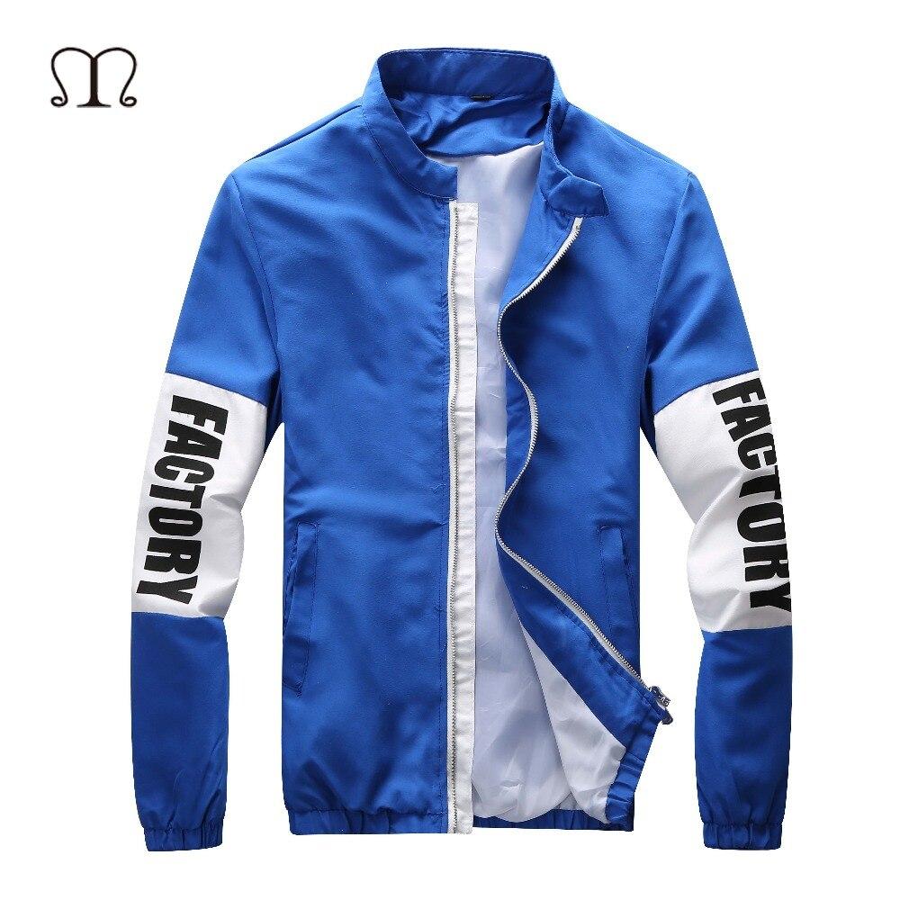 Nike jacket in chinese - New Fashion Brand Bomber Jacket Men Slim Clothing Male Autumn Thick Coat Spring Light Blue Cotton