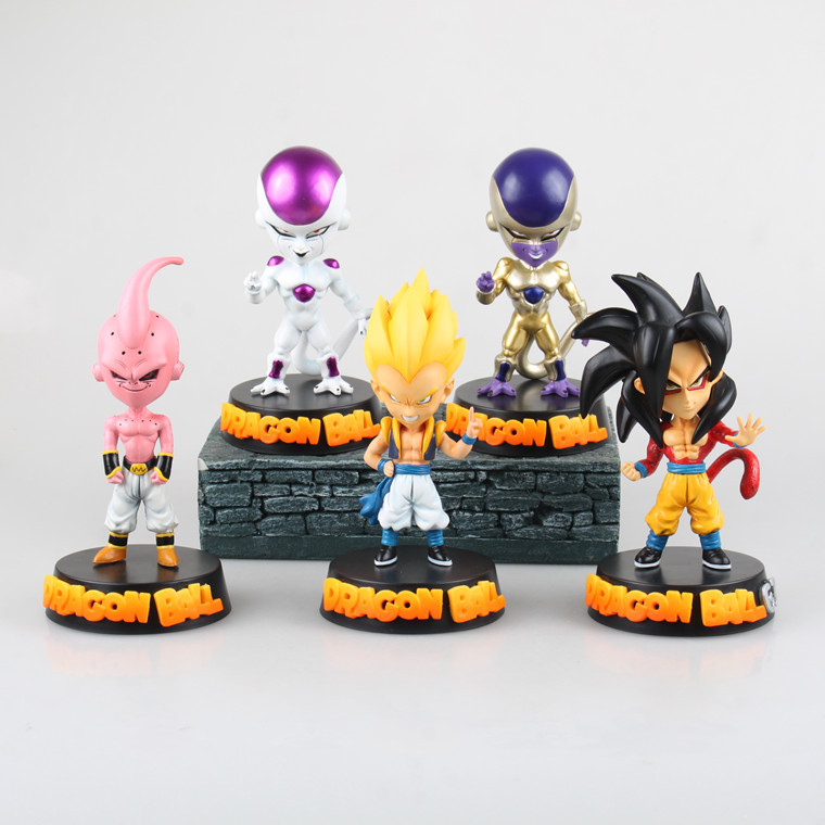 Free Shipping Anime Dragon Ball Z Super Saiyan Son Goku Felisaz Gotenks Majin Buu PVC Action Figure Collectible Toy 15CM anime dragon ball z toy figure goku figures son goku pvc action figure chidren favorite gifts 15cm approx retail shipping