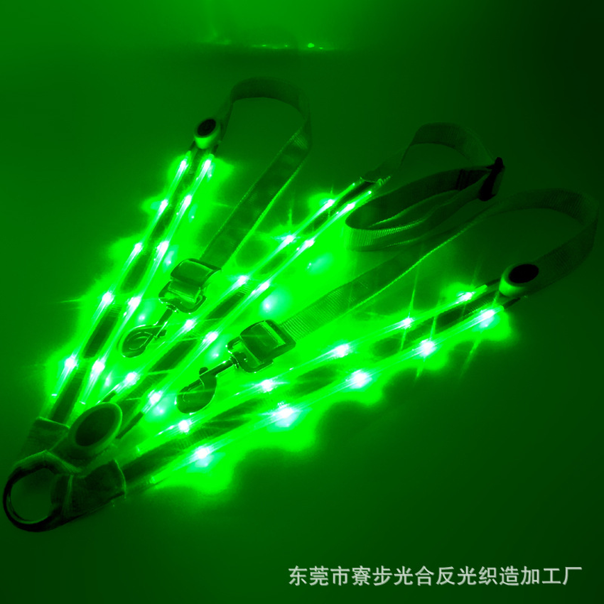 Image 4 - LED Horse Collar Bridle Halter Visibility Tack Horse Riding Equestrian Safety Gear In Night Horse LED Breastplate Collar Lights-in Halters from Sports & Entertainment