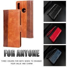 For Samsung galaxy m30 case luxury splice wallet m20 m10 Business Color matching pu ard slot stander