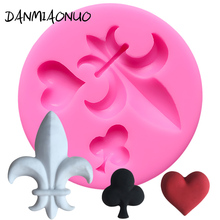 Mini Cartoon Heart Mold Cake Tool Chocolate Silicone Fondant Decorating Tools 3d Soap Molds A306953