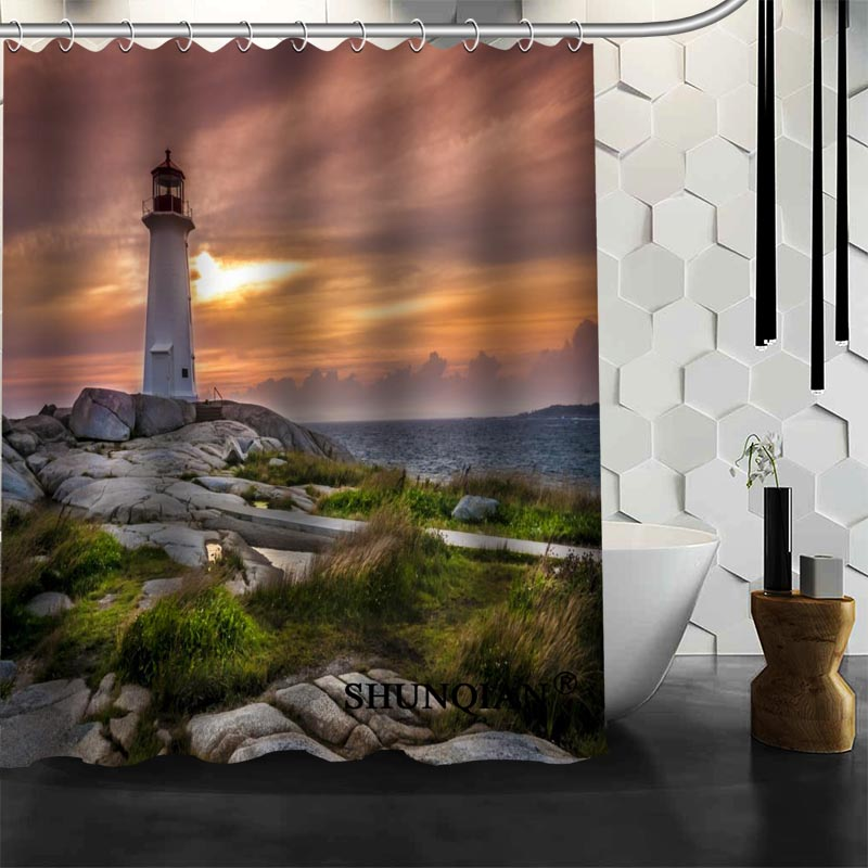 Superb Waterproof Bathroom Curtains Modern Lighthouse Shower Curtain Polyester  Bath Screens Customized Curtain In Shower Curtains From Home U0026 Garden On ...