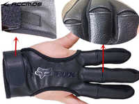 3 Finger Protective Glove 3 Fingers Leather Guard Safety Archery Gloves for Recurve Compound Bow hunting Fit LH / RH Accessory