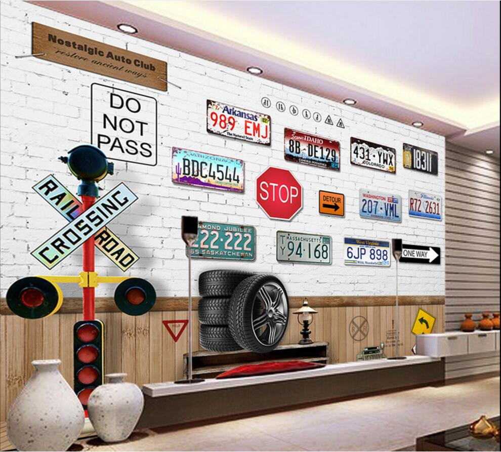 3d wallpaper custom photo mural Nostalgic car license plate TV background 3d wall murals wallpaper for walls 3 d living room wdbh custom mural 3d photo wallpaper gym sexy black and white photo tv background wall 3d wall murals wallpaper for living room