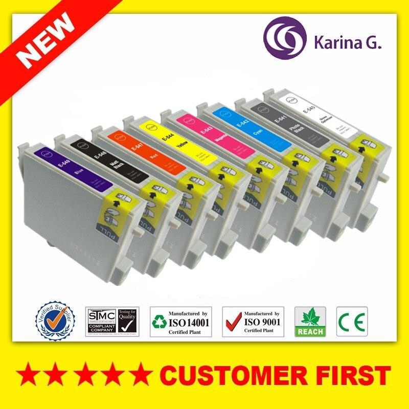 8 STÜCKE Tintenpatrone für T0540 T0541 T0542 T0543 T0544 T0547 t0548 t0549...